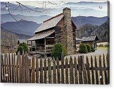 Appalachian Mountain Cabin Acrylic Print