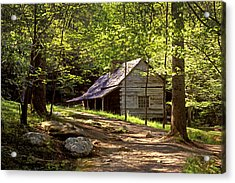 Appalachian Mountain Log Cabin Acrylic Print by Paul W Faust -  Impressions of Light
