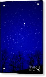 Appalachian Mountain Starry Night Acrylic Print by Thomas R Fletcher