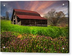 Appalachian Spring Acrylic Print by Debra and Dave Vanderlaan
