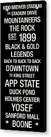 Appalachian State College Town Wall Art Acrylic Print by Replay Photos