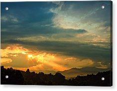 Appalachian Sunset Acrylic Print by William Schmid