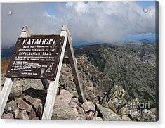Appalachian Trail Mount Katahdin Acrylic Print by Glenn Gordon