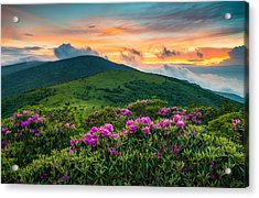 North Carolina Appalachian Trail Roan Mountain Highlands Acrylic Print