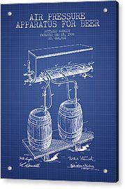 Apparatus For Beer Patent From 1900 - Blueprint Acrylic Print by Aged Pixel