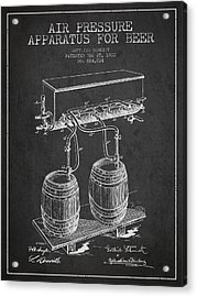 Apparatus For Beer Patent From 1900 - Dark Acrylic Print