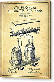 Apparatus For Beer Patent From 1900 - Vintage Acrylic Print by Aged Pixel