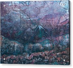 Acrylic Print featuring the mixed media Apparitions by Carla Woody