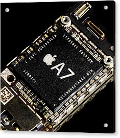 Apple A7 Processor Acrylic Print by Science Photo Library