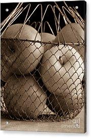 Apple Basket Still Life Acrylic Print by Edward Fielding