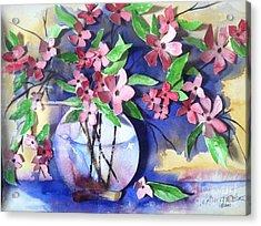 Apple Blossoms Acrylic Print by Sherry Harradence