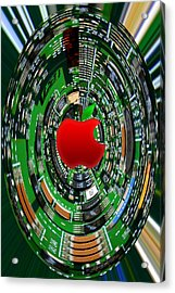 Apple Computer Abstract Acrylic Print by Sandi OReilly