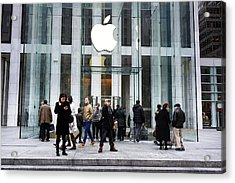 Apple Cuts Component Orders For Iphone5 As Demand Weakens Acrylic Print by Spencer Platt