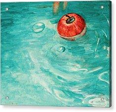 Apple In A Tub Acrylic Print