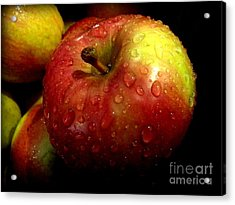 Apple In The Rain Acrylic Print