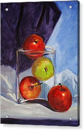 Apple Jar Still Life Painting Acrylic Print