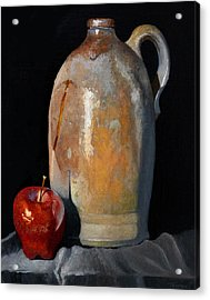 Apple Meets Crock Acrylic Print by Catherine Twomey