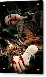 Apple Of Death Acrylic Print by Cherie Haines