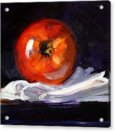 Apple On Linen Acrylic Print