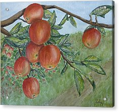 Acrylic Print featuring the painting Apple Orchard by Kelly Mills