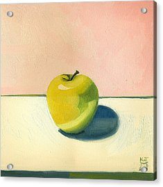 Acrylic Print featuring the painting Apple - Pink And White by Katherine Miller