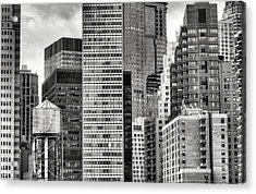 Apple Slices Bw Acrylic Print by JC Findley
