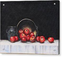 Apple Still Life Acrylic Print by Rita Miller