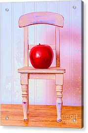 Apple Still Life With Doll Chair Acrylic Print by Edward Fielding