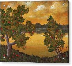 Apple Sunset Acrylic Print by Anastasiya Malakhova