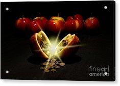 Apples With Copper Coins  Acrylic Print by Jaroslaw Blaminsky