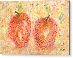 Acrylic Print featuring the painting Apple Twins by Paula Ayers