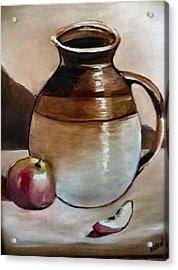 Apple With Ceramic Jug. Acrylic Print
