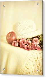 Apple With Roses Acrylic Print by Gynt Art