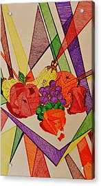 Apples And Oranges Acrylic Print by Celeste Manning