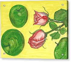 Apples And Roses Acrylic Print