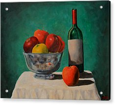 Apples And Wine Acrylic Print