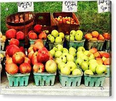 Apples At Farmer's Market Acrylic Print by Susan Savad