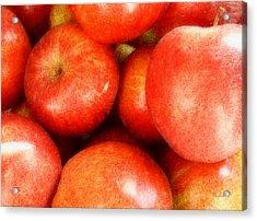 Apples Acrylic Print by Cynthia Lassiter