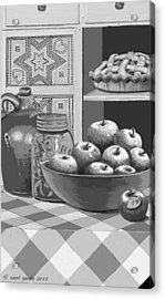 Acrylic Print featuring the digital art Apples Four Ways by Carol Jacobs