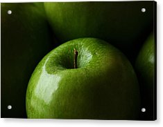 Acrylic Print featuring the photograph Apples Green by Lorenzo Cassina