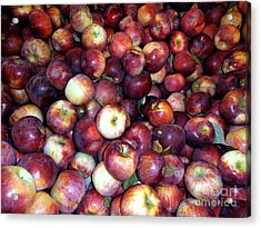 Apples Acrylic Print by Janine Riley