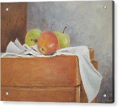 Apples Acrylic Print by Mary Adam