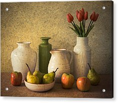 Apples Pears And Tulips Acrylic Print