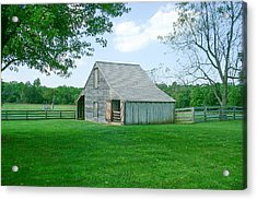 Appomattox Barn Acrylic Print by David Nichols