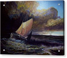 Approaching Gale  After Turner Acrylic Print