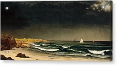 Approaching Storm. Beach Near Newport Acrylic Print