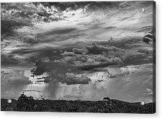 Approaching Storm Black And White Acrylic Print by Douglas Barnard