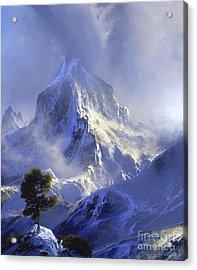 Approaching Storm Acrylic Print by David Lloyd Glover