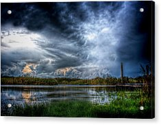 Approaching Storm Acrylic Print by Mark Andrew Thomas