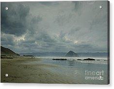 Approaching Storm - Morro Rock Acrylic Print